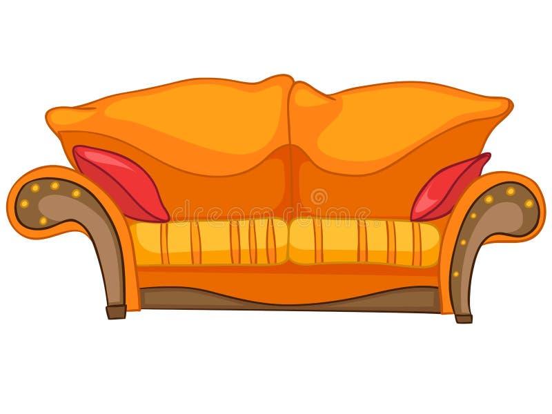 Home möblemangSofa för tecknad film royaltyfri illustrationer