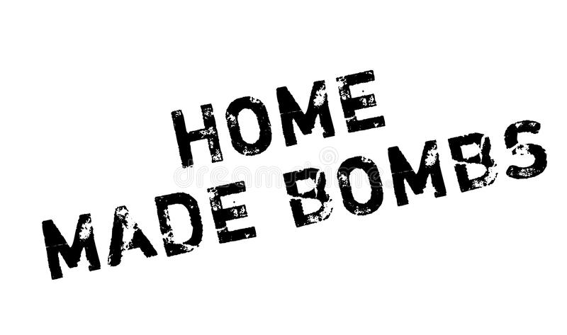 Home Made Bombs rubber stamp. Grunge design with dust scratches. Effects can be easily removed for a clean, crisp look. Color is easily changed vector illustration