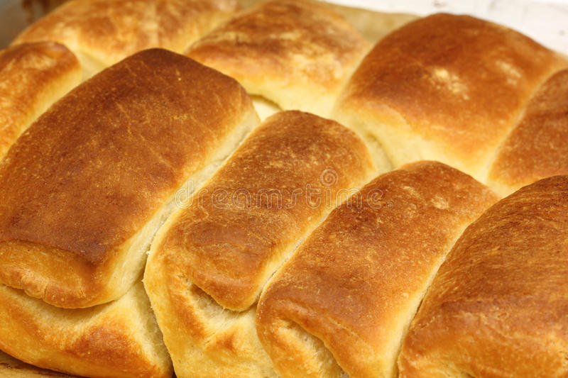 Home-made bread rolls stock photography