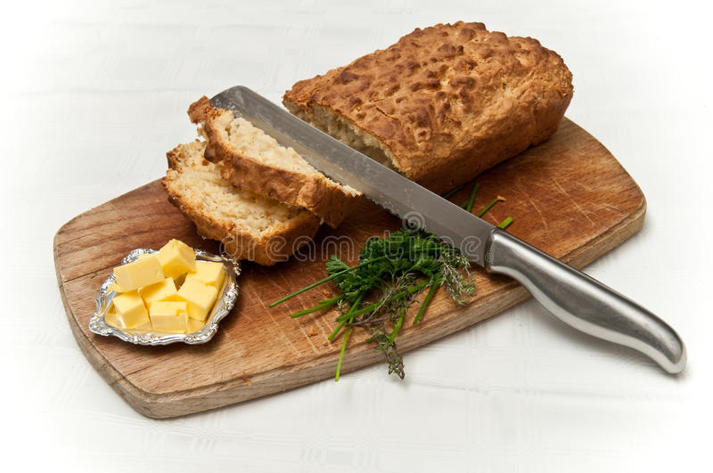 Home made buttermilk bread stock images