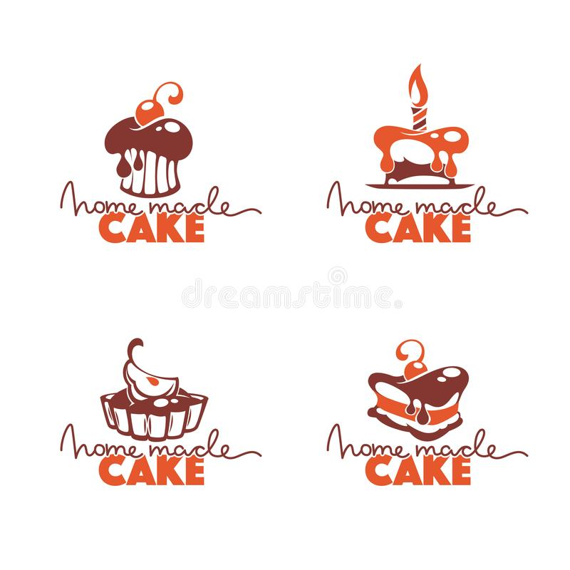 Home made cake, bakery, pastry, confectionery, cake, dessert, sw royalty free illustration
