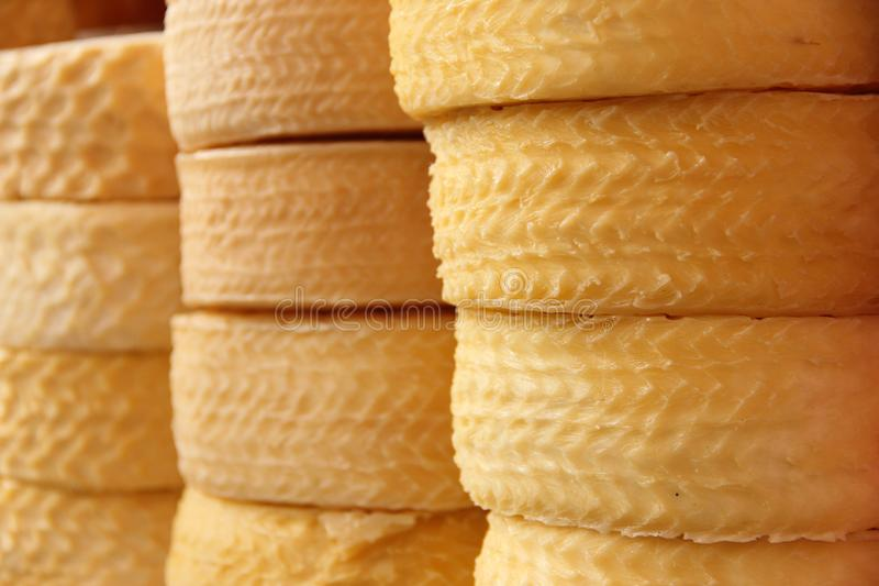 Home made cheese for sale stock photography
