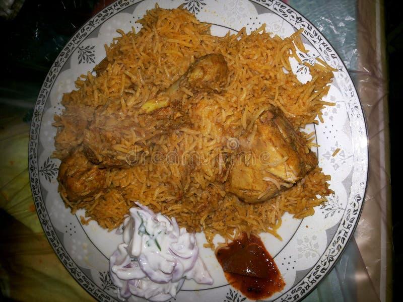 Chicken Briyani stock photography