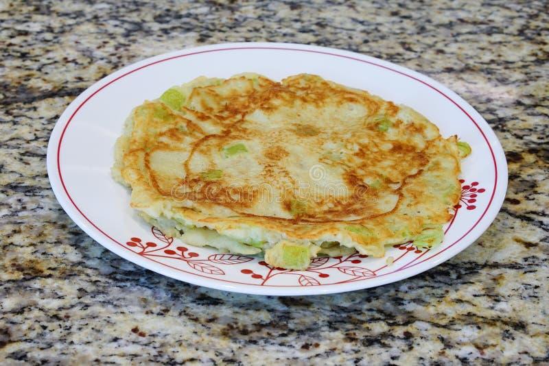 Home made Chinese pancake. Home made Chinese style pancake: jianbing royalty free stock photo