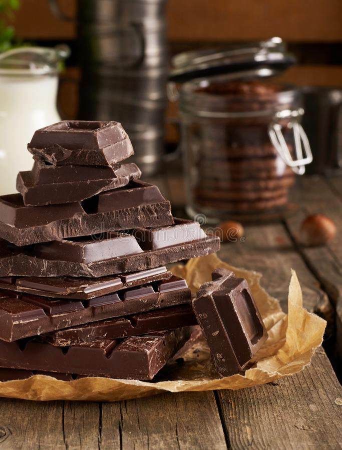 Home made chocolate royalty free stock image