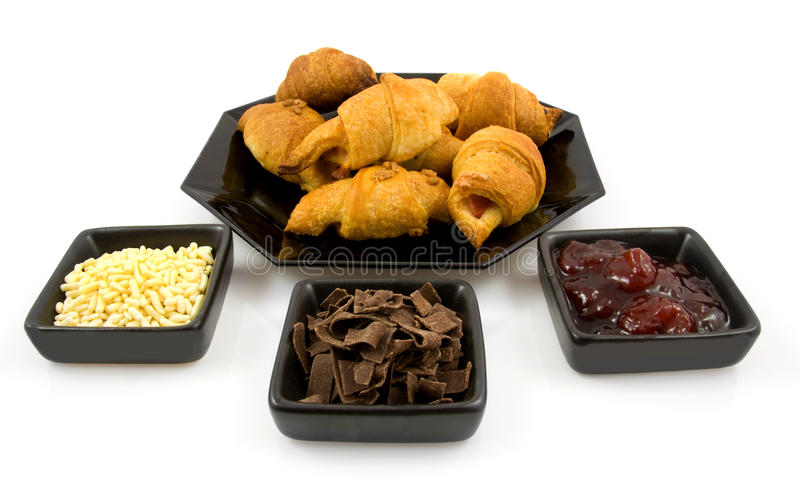 Home made croissants and spreads