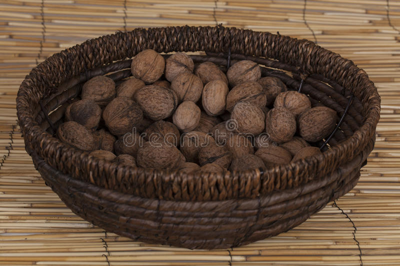 Home made dried walnuts royalty free stock photography