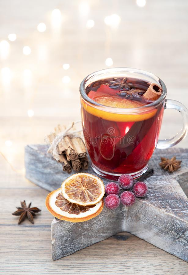 Home made christmas mulled wine royalty free stock photography