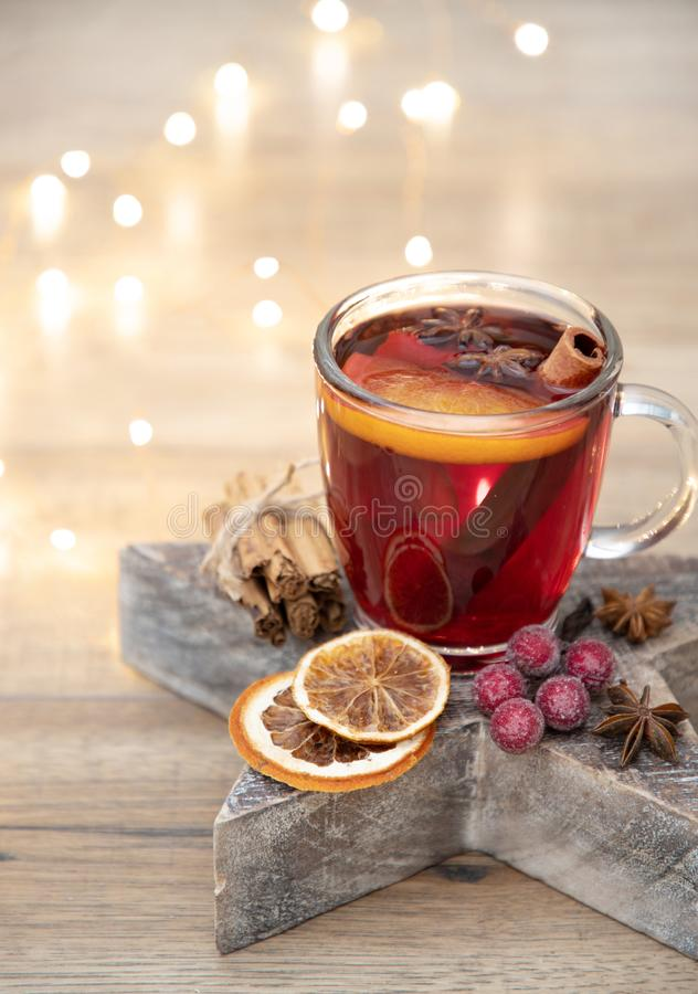 Home made christmas mulled wine stock photos