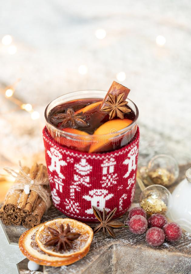 Home made festive mulled wine stock photography