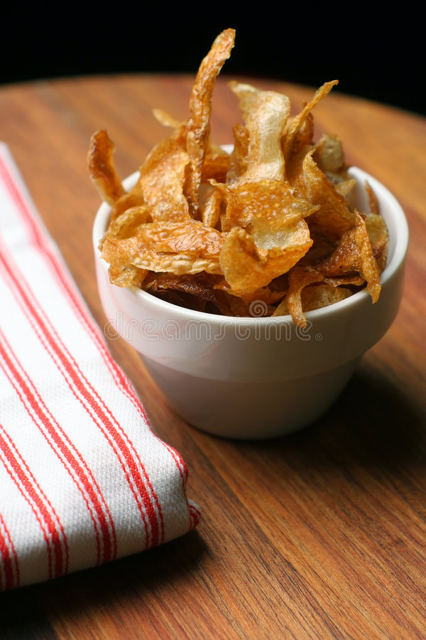 Free Home-made French Fries And Napkin Stock Image - 772951