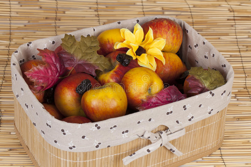 Home made fruits in a case royalty free stock photos