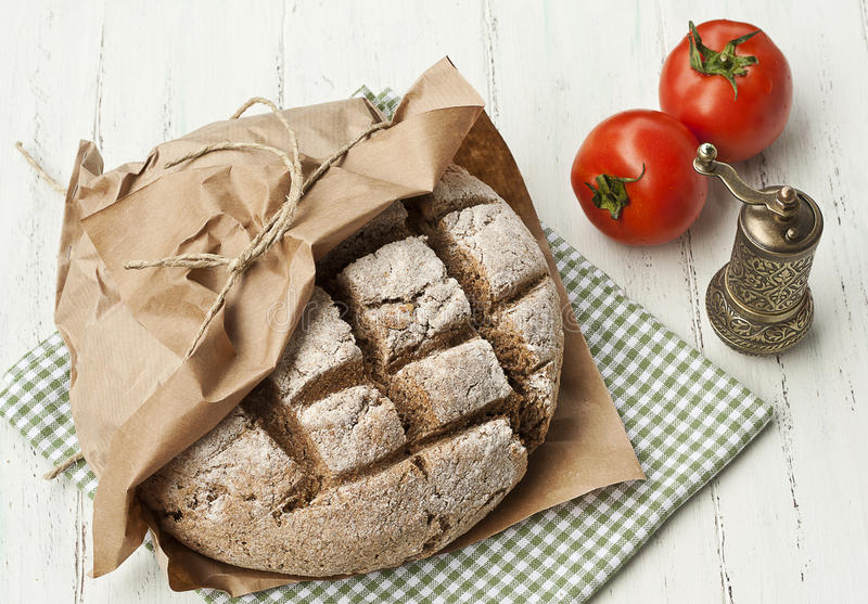 Home made integral rye bread royalty free stock photography