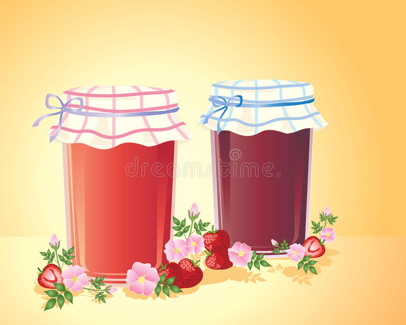 Download Home made jam stock vector. Image of cookery, sweet, strawberries - 23542648