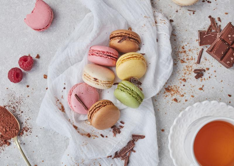 Home made macaroons royalty free stock image