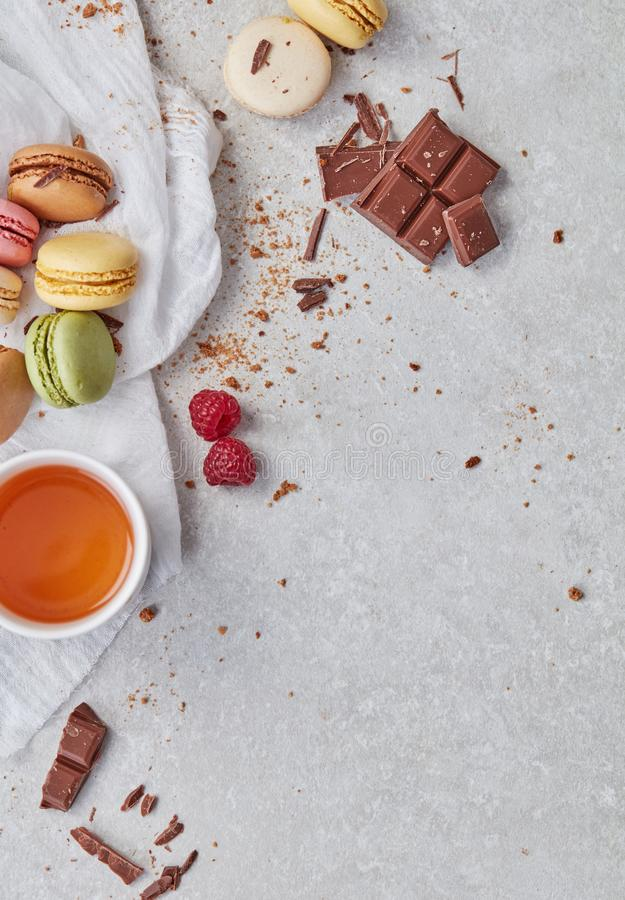 Home made macaroons royalty free stock photography