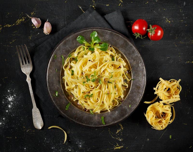 Home made pasta stock photo