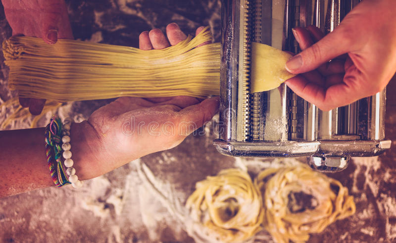 Home made pasta royalty free stock photos