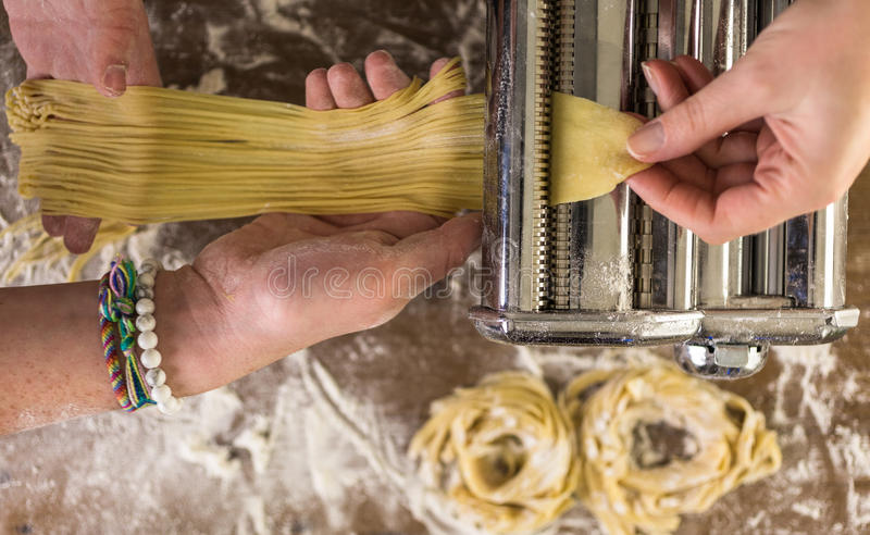 Home made pasta royalty free stock photo
