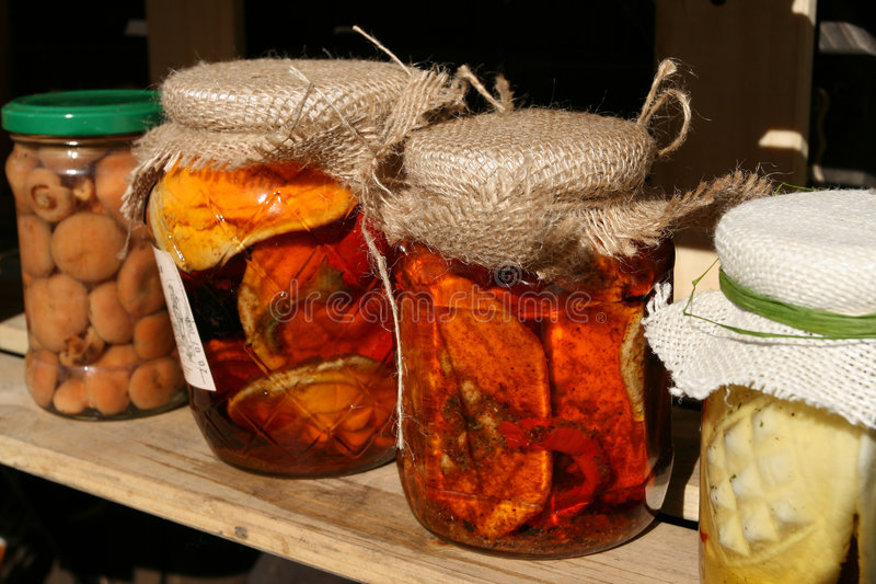 Home made preserves royalty free stock photography