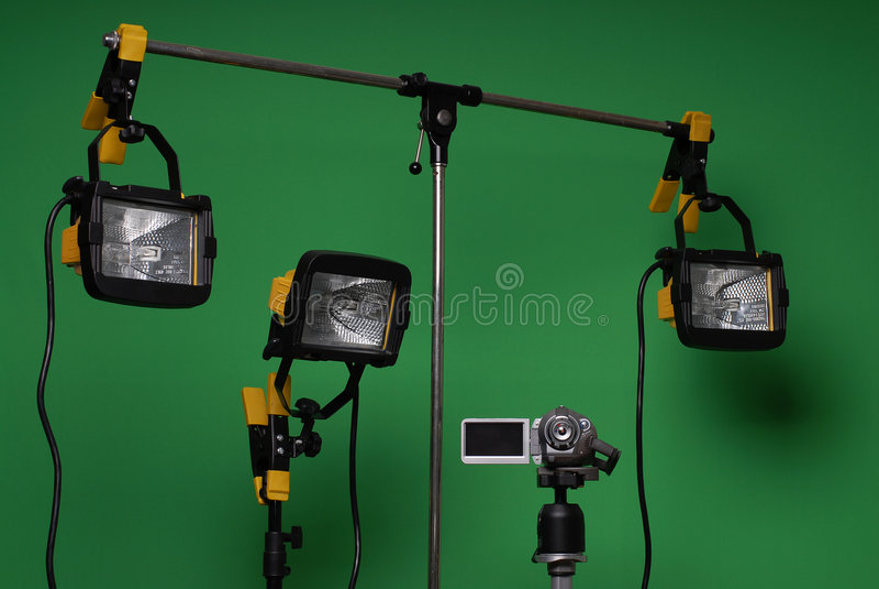 Home made video studio stock image