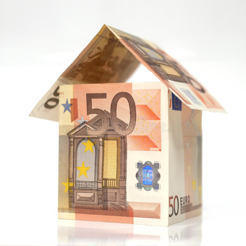 Free Home Made With 50 Euros Notes Royalty Free Stock Image - 16944736