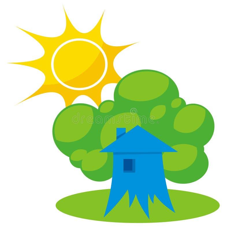 HOME mais verde 1 ilustração royalty free