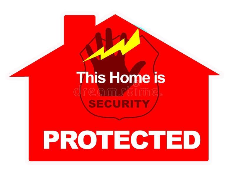 home marknadsföringssäkerhet för alarm royaltyfri illustrationer