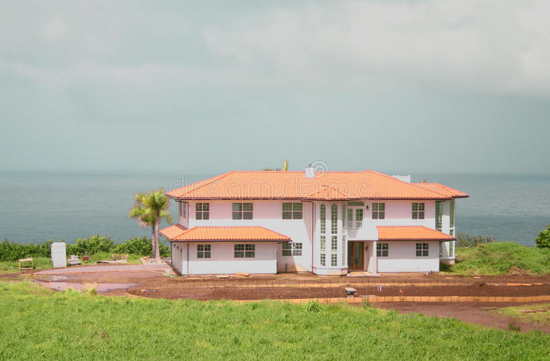 MAUI, HAWAII OCEANFRONT HOME royalty free stock photo