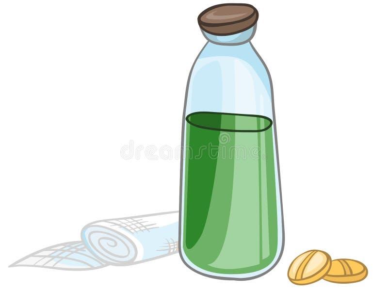 Home medicinPills för tecknad film stock illustrationer