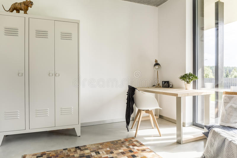Home with metal wardrobe royalty free stock image
