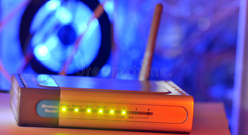 Home modem royaltyfria foton