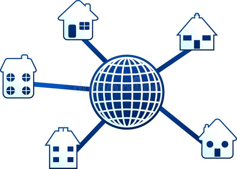Home molecule vector illustration