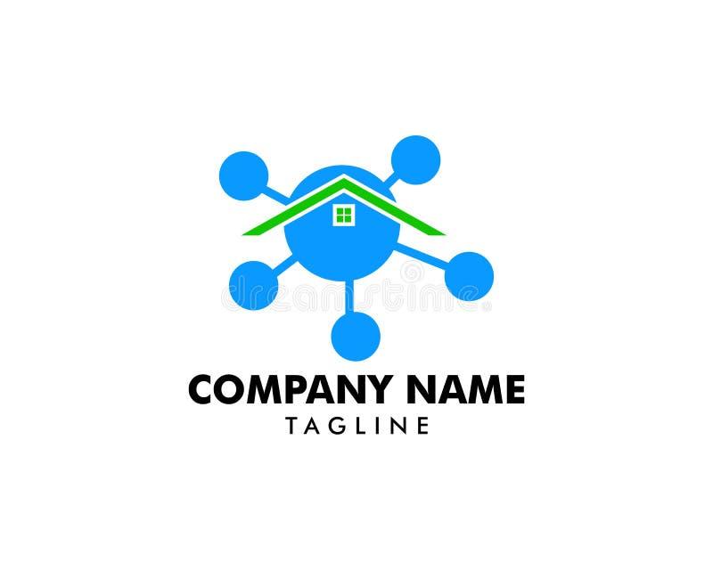 Home Molecule Icon Logo Design Element stock illustration