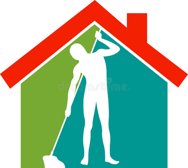 Home mopping vector illustration