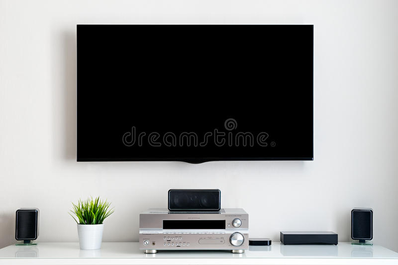 Home multimedia center. Smart home stock image