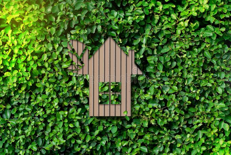 Home - natural green background - the concept of global warming and save money.  royalty free stock photography