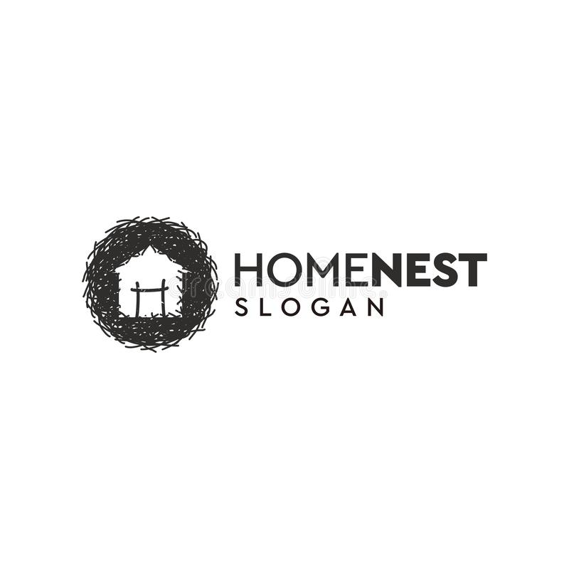 Home nest logo design,vector,illustration. Ready to use vector illustration