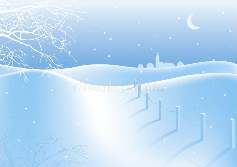 HOME nevado da caminhada ilustração royalty free