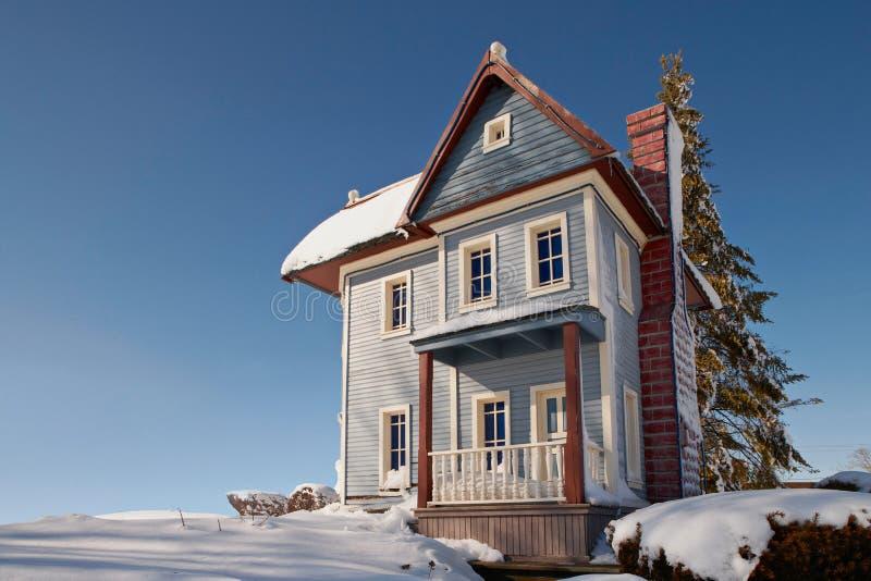 HOME no inverno fotografia de stock
