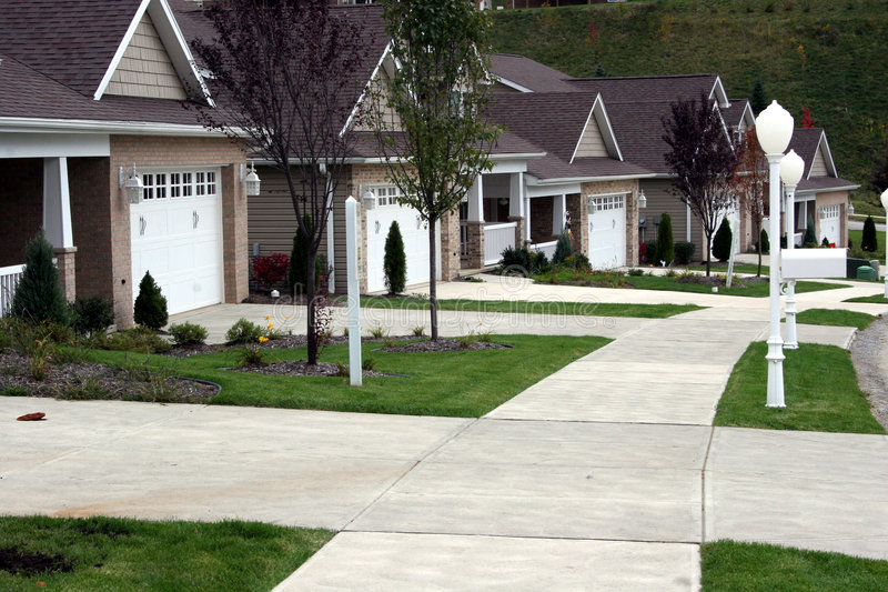 HOME nova - casas de carro imagem de stock royalty free