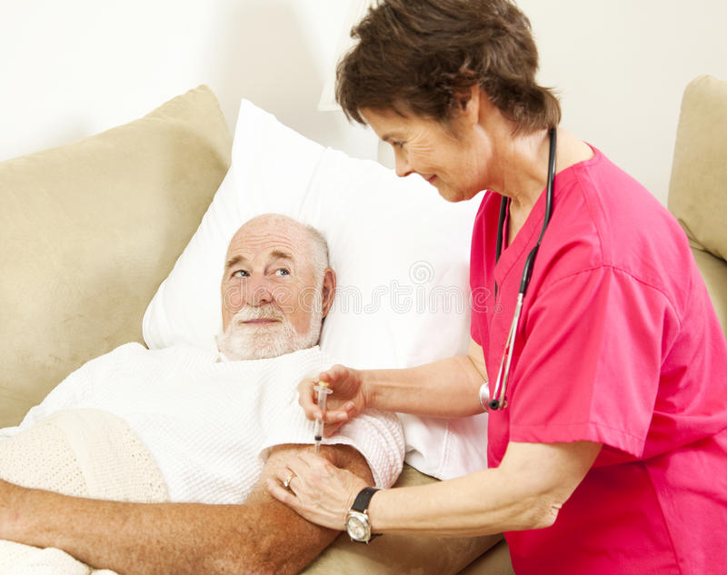 Download Home Nursing - Getting A Shot Stock Image - Image of aged, patient: 15478337