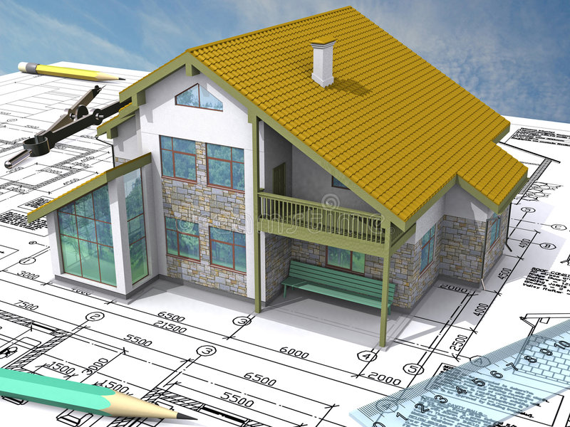 Home_NW_Isometric ilustração royalty free
