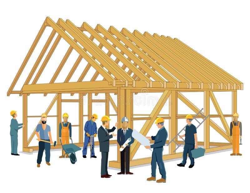 home nytt för konstruktion stock illustrationer