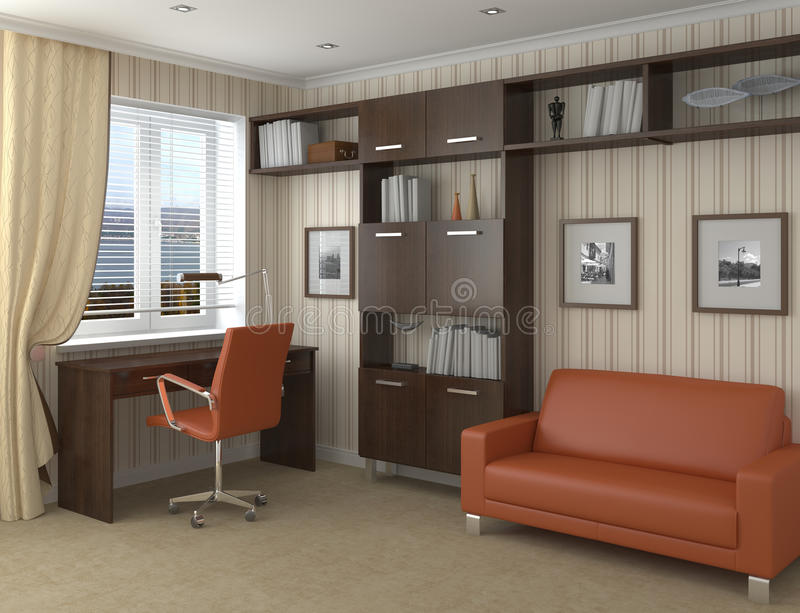 Home office. stock illustration
