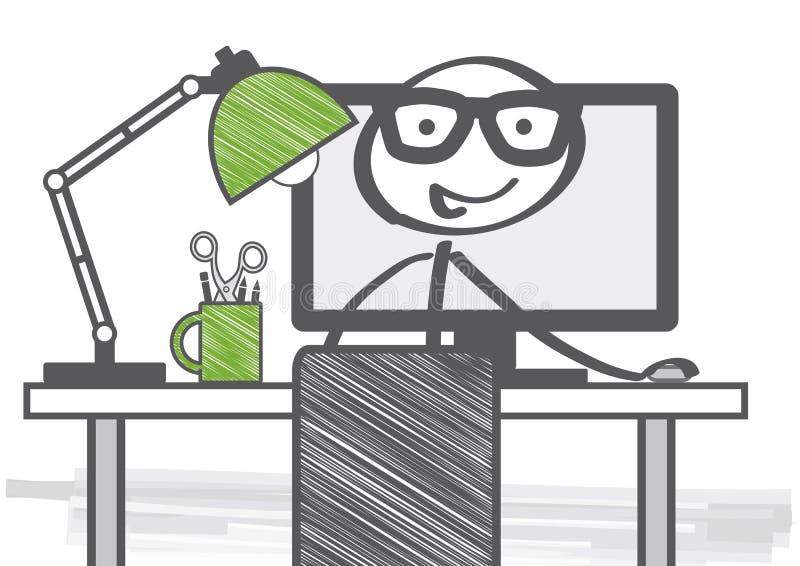 Home office vector illustration