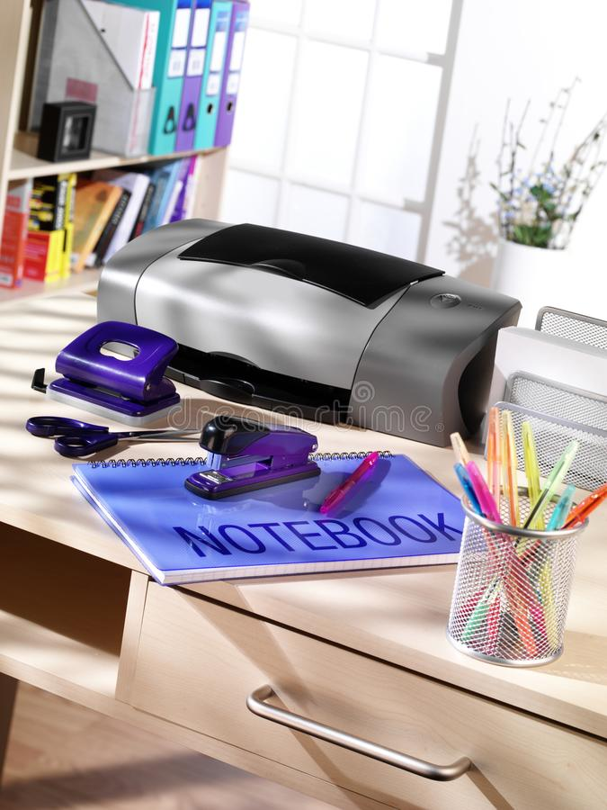 Home Office Desk scene stock image