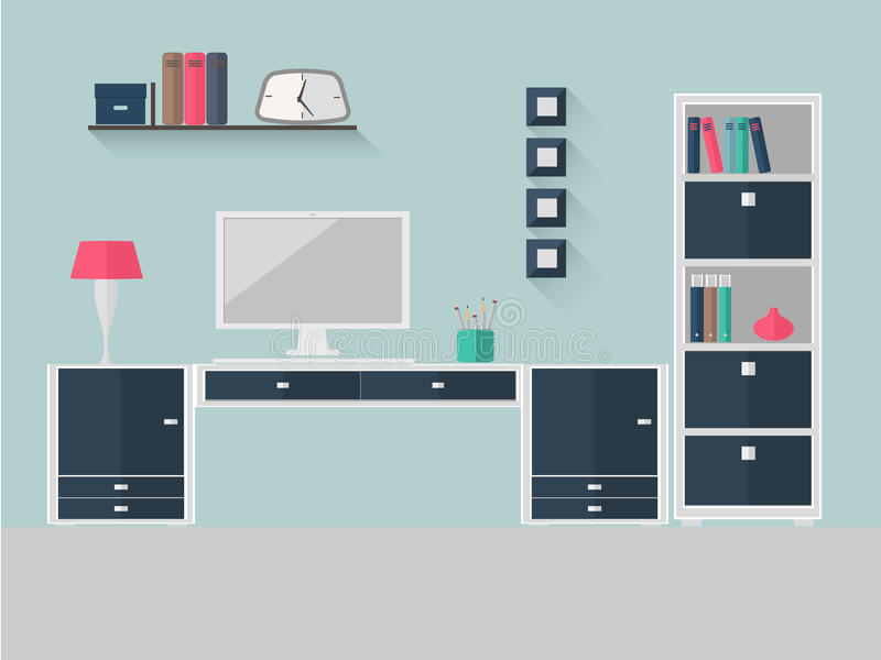 Home office 5 royalty free illustration