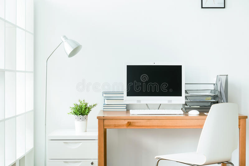 modern home office computer desk clean modern. Download Home Office Has To Be Clean Stock Photo - Image Of Technology, Modern: Modern Computer Desk T