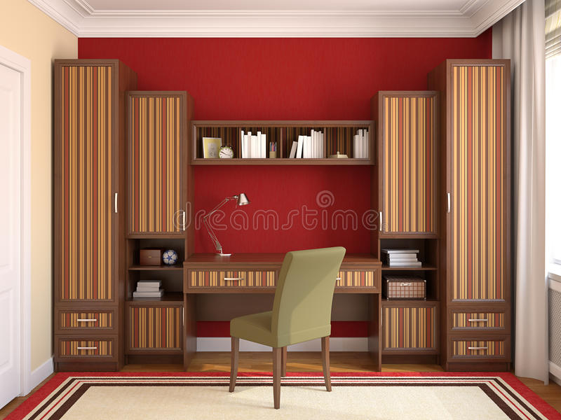 Home Office Interior. Royalty Free Stock Photography